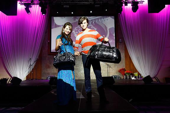 В честь запуска линии сумок Наталия Гулькина устроила модный показ