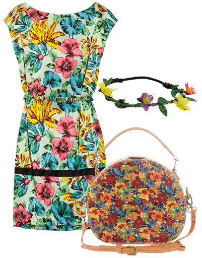 Платье Dolce & Gabbana, сумка Asos, браслет TopShop