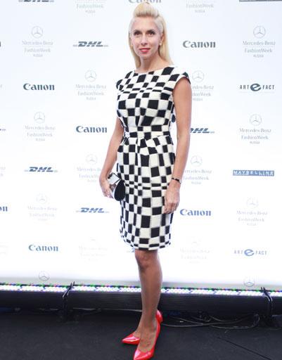 Алена Свиридова на Mercedes-Benz Fashion Week весна-2013