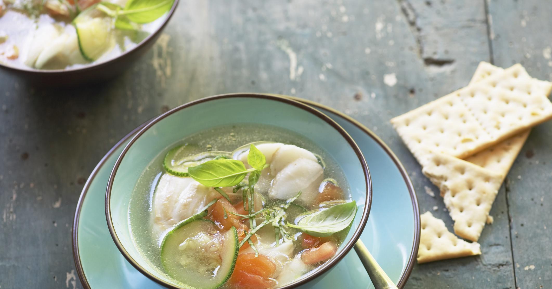 Рецепт супа с морским окунем