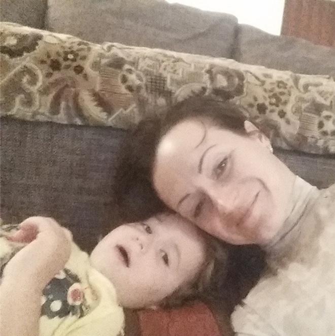 Елена Слесаренко с дочкой Лизой, селфи