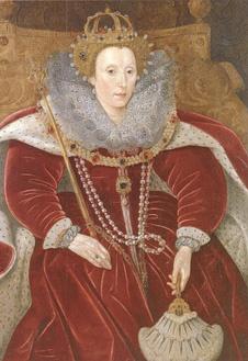 Портрет Елизаветы I, ок. 1585-90 г. Приписывается Маркусу Гираэрту младшему.