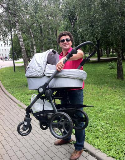 Муж Анфисы Чеховой Гурам Баблиашвили с сыном
