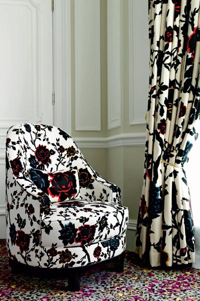 Мебель и ткани из коллекции, созданной Дианой для Claridge's, скоро можно будет купить в магазинах.
