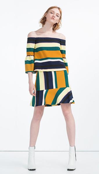 Топ, юбка Zara, фото