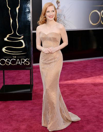 "Джессика Честейн (Jessica Chastain) на премии ""Оскар""-2013"