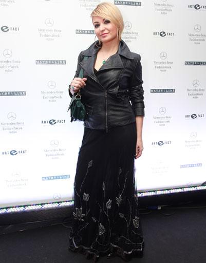 Катя Лель на Mercedes-Benz Fashion Week весна-2013