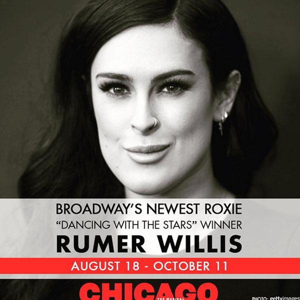 Румер Уиллис получила главную роль в мюзикле «Чикаго»