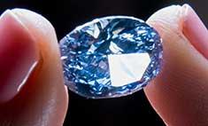 В Гонконге продадут редчайший голубой бриллиант