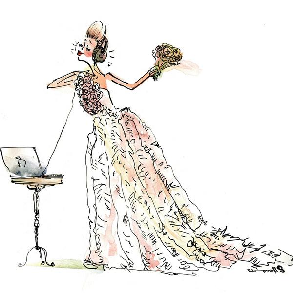 «Вечером в чате, при свидетелях и гостях, состоялась свадьба: влюбленные обменялись клятвами и удалились в приватный чат на свою первую брачную ночь!»