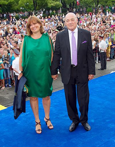 Владимир Познер с супругой Екатериной Орловой