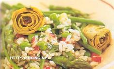 Итальянский рисовый салат с овощами