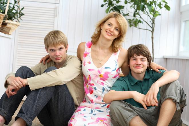 Наталья Касперская с сыновьями – Максимом и Иваном.