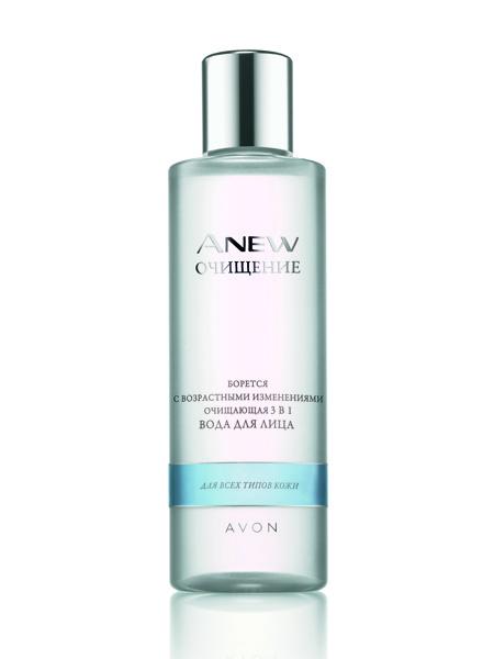 Avon, очищающая вода Anew 3-в-1 с антивозрастным эффектом