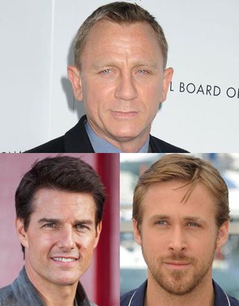 Дэниэл Крейг (Daniel Craig), Том Круз (Tom Cruise), Райан Гослинг (Ryan Gosling)