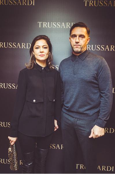 Елена Лядова и Владимир Вдовиченков на открытии бутика Trussardi