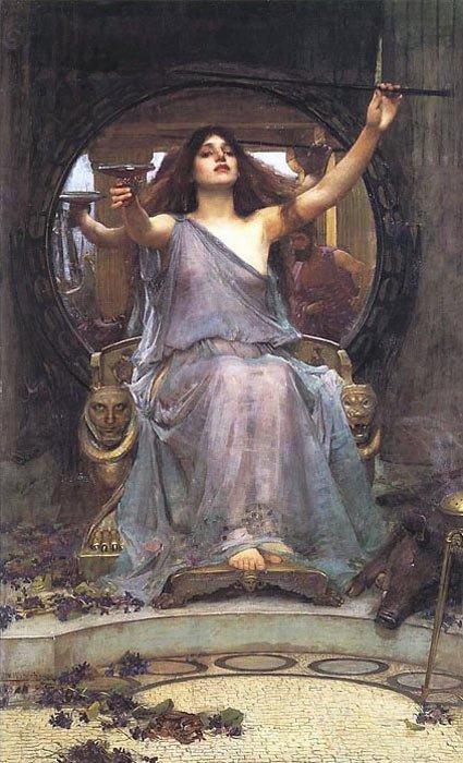 """Джон Уильям Уотерхаус, """"Цирцея, завлекающая Одиссея"""""""