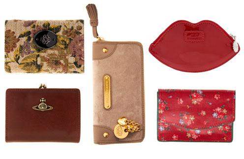 Кошелек Vivienne Westwood, кошелек Misha Burton, кошелек Juicy Couture, кошелек в виде губ Lulu Guinness, кошелек Cath Kidston