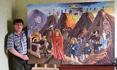 Иркутский художник посвящает свои картины Алле Пугачевой