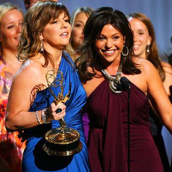 Рэйчел Рэй принимает свою награду за лучшее ток-шоу