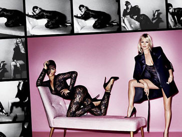 Кейт Мосс (Kate Moss) и Рианна (Rihanna) в эротической фотосессии журнала V
