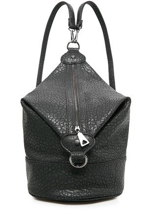 фактурная сумка-рюкзак