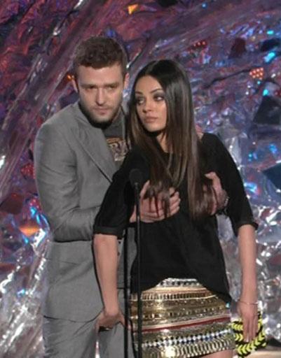 Джастин Тимберлейк (Justine Timberlake) и Мила Кунис (Mila Kunis)