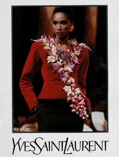 Рекламная кампания YSL 1988 года с участием чернокожей модели