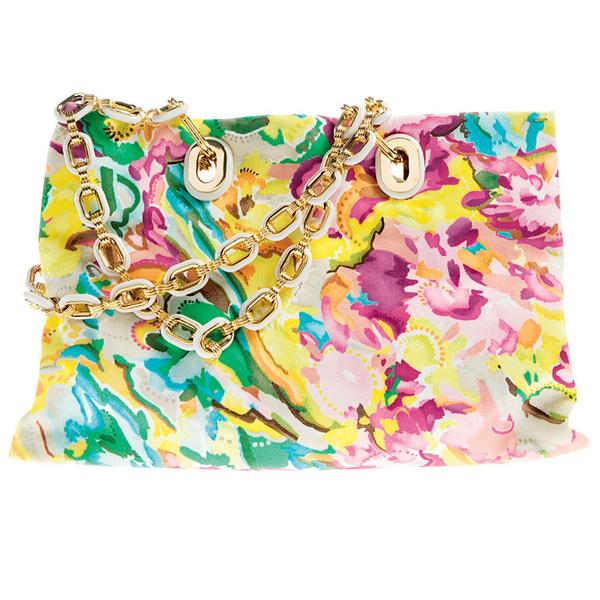 Сумка из ткани с ручками-цепочками, Missoni.