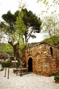 Восстановленный дом Богородицы на Соловьиной горе в Эфесе