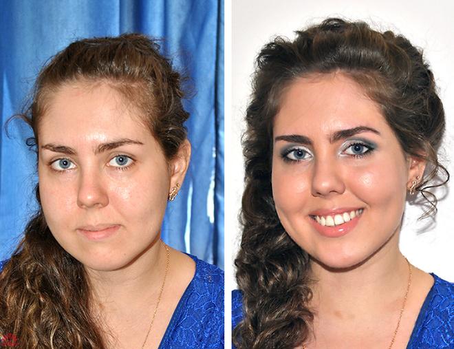 девушки до и после макияжа: фото