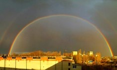 Ноябрьская радуга в Воронеже – явление редкое и завораживающее. Фото