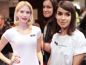 Елена Перминова и Мирослава Дума на благотворительной распродаже в ЦУМе