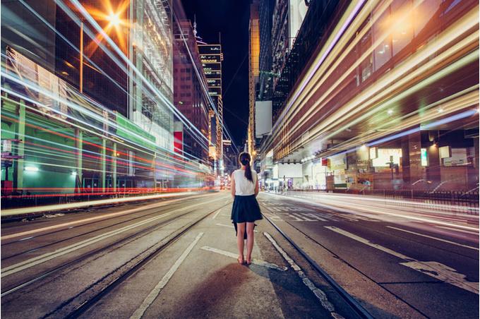 Женщина в городе