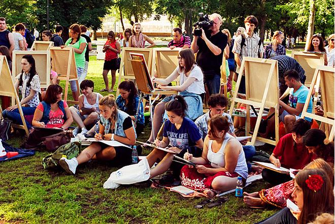 День города Санкт-Петербурга 2016: программа меропрития, пленэр в Летнем саду