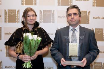 Елизавета Дреер, пресс-атташе и Йяфиль Паскаль, генеральный директор Chanel в России и СНГ