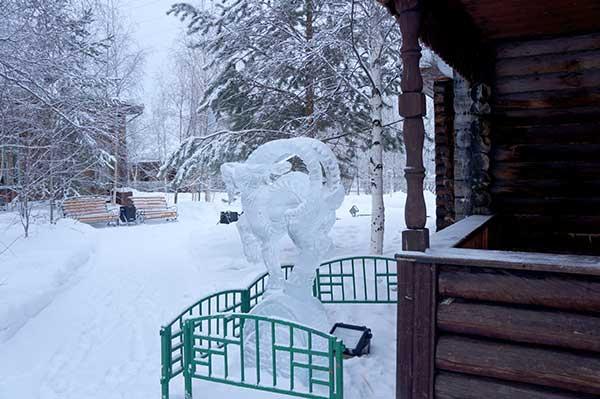 Фестиваль ледовых скульптур в Сургуте