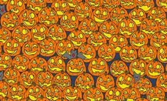 Головоломка на Хеллоуин: найди безносую тыкву