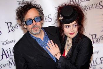 Хелена Бонэм-Картер (Helena Bonham Carter) с мужем Тимом Бертоном (Tim Burton)