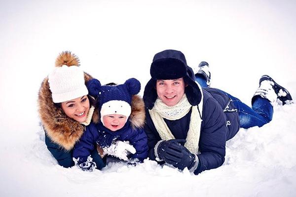 Алексей Майоров с семьей