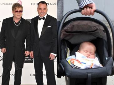 Сэр Элтон Джон (Sir Elton John) и его партнер Дэвид Ферниш (David Furnish)