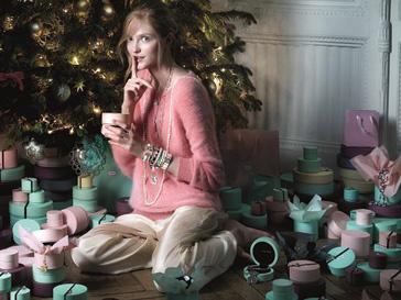 Влада Рослякова в новогодней рекламной кампании TOUS