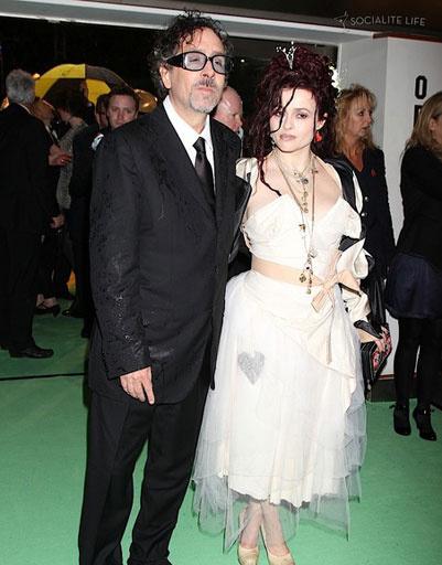 Тим Бертон (Tim Burton) и Хелена Бонэм Картер (Helena Bonham Carter)
