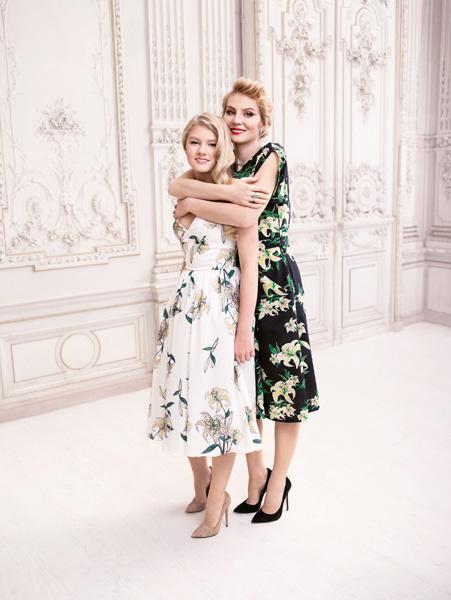 Рената Литвинова и ее дочь Ульяна в рекламе Zarina весна-лето 2014