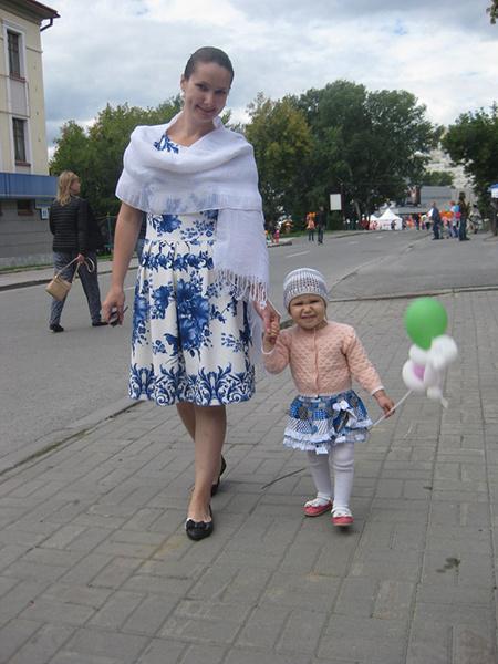 Полина Будницкая с дочкой