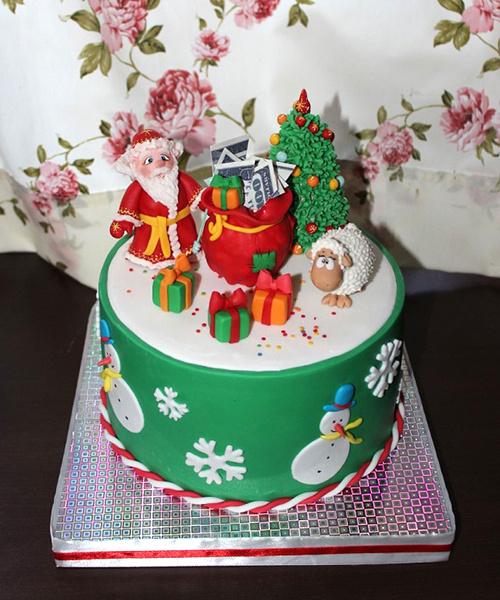 Подарки на Новый год 2016 в Ростове: торт из мастики