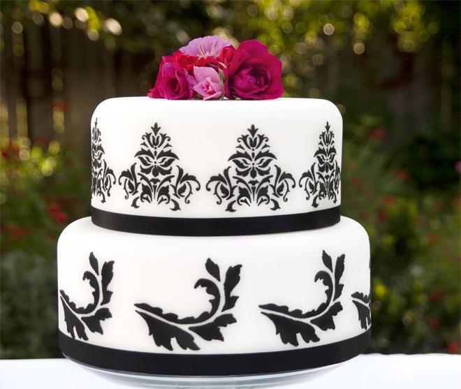 Узоры на свадебном торте