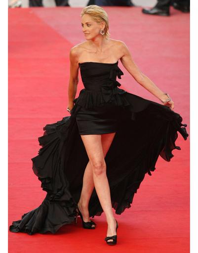 Шэрон Стоун на Каннском кинофестивале-2009
