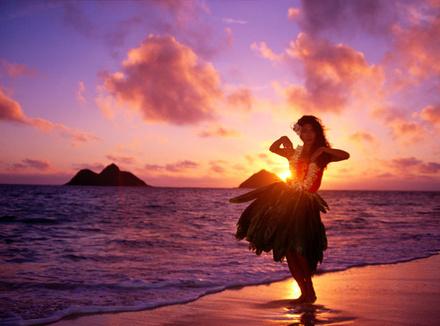 Танцовщица танца Хула