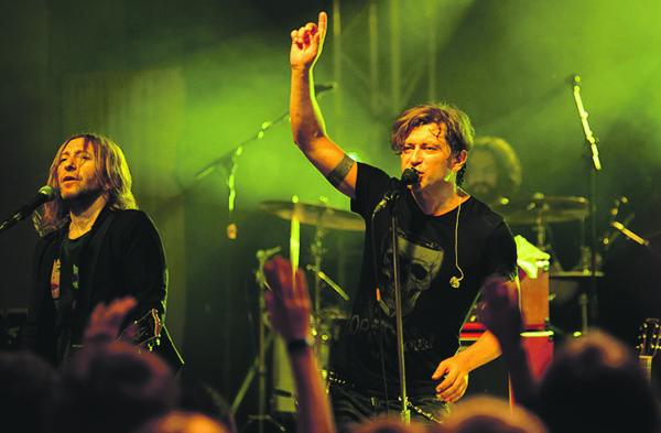 Музыканты «Би-2» выкладываются на каждом концерте.